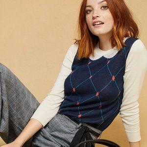 ModCloth Trompe l'Oeil Collared Sweater